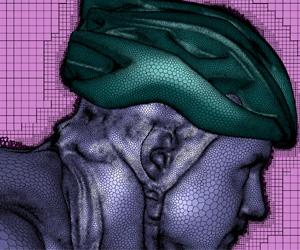 Обычно эксперты и новички в области CFD сталкиваются с трудностями при работе с такой сложной для построения сетки геометрией, подобной этой. Однако технология Mosaic значительно упрощает процесс создания сетки (изображение предоставлено Центром спортивных инженерных исследований, Университет Шеффилда Халлама).