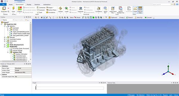 Пользовательский интерфейс Ansys Mechanical