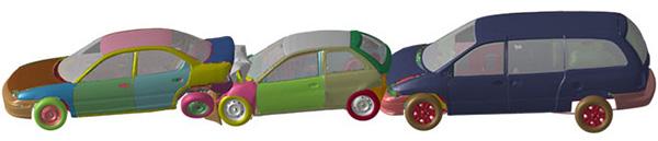Моделирование автомобильной аварии в Ansys LS-Dyna